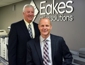 Doug Gallaway, Managed Print Manager (left) and Mark Miller, President (seated).