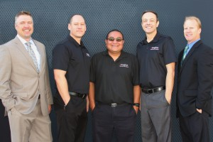 L-R: Chad Schwartz, Ray Trombley, Phil Semallie, Steve Barre, and Darren Johnson are the driving force behind the success Imagine Technology Group has experienced.