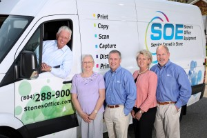 The Stones' Office Team, (left to right): Frank Stone, Founder; Sally Stone; Sam Stone, President; Tina Berry; Mike Berry, Vice President