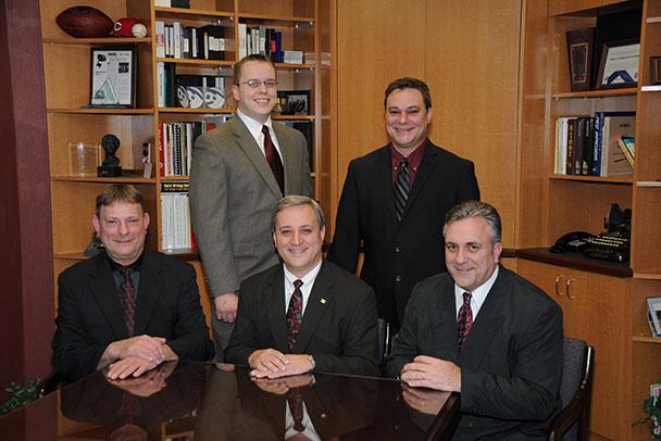 Front L to R: John Jehn, Sr. Service Technician; Jeff Jehn, President; Jerry Jehn, Vice President Rear L to R: Matt Jehn, Sr. Account Manager; Josh Jehn, CFO/controller