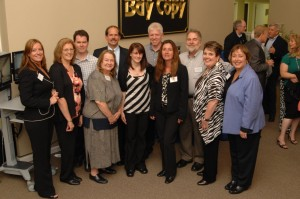 The Bay Copy team and President Ray Belanger celebrate their 40th anniversary.