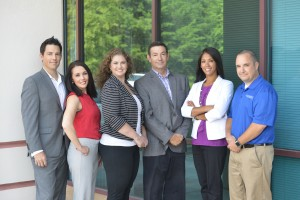 The Consolidated Copier Management Team (left to right) Lincoln Nunnally, Stephanie Robinson, Tracy Anderson, Patrick Nunnally, Salisa Bacon, Brian Lugar.