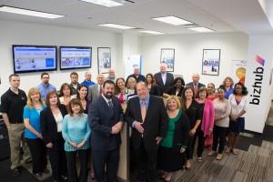 Al & David Scibetta (front foreground) with The Copier Fax Business Technologies team.