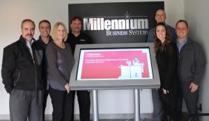 The Millenium team (Left to Right) Mike Neu, President, Ryan Neu, Debbie Neu, Mike Brown, Angela Neu Wichmann, Tony Wichmann, Dave Neu).