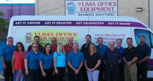 The staff of Yuma office equipment.