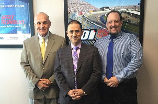From left: Don Schatzman, President of Sales; Rick Salcedo, CEO; Vance Stewart, VP of Operations